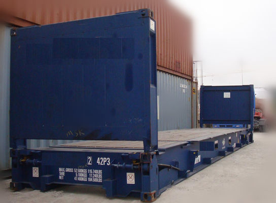 Tangan Kedua 20ft Flat Rack Container / Used Sea Box Containers Dijual