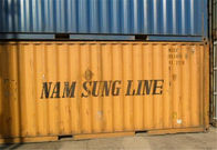 Yellow 20FT 40 Foot Open Side Container Untuk Transportasi Intermodal