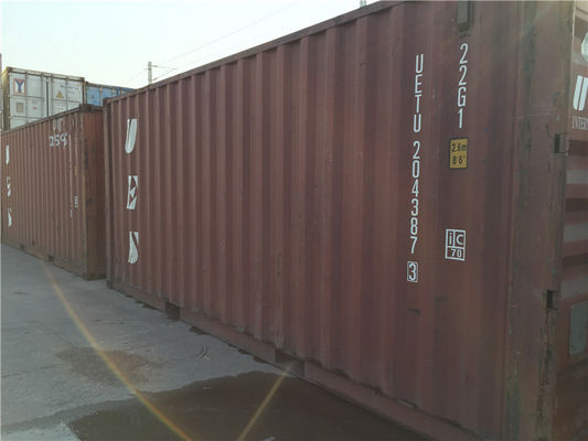 Cina Transport Steel Used Metal Storage Containers Tare Weight 2200kg pabrik